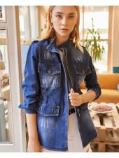 Джинсовий жіноча куртка на літо