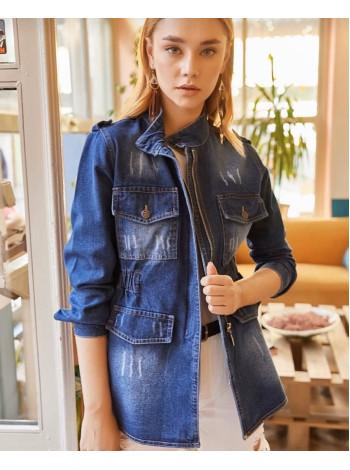 Джинсовая женская куртка на лето