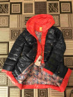 Куртка на пуху VO TARUN   ЦВЕТ бутылка с оранжевым капюшоном фото №3