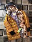 Куртка женская, зимняя VO TARUN оранжевого цвета c отстегивающимся трикотажным капюшоном. Купить в интернет магазине онлайн фото №3