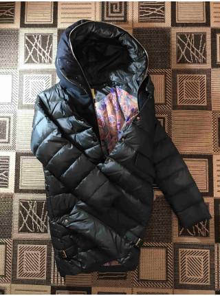 VO TARUN Куртка цвет бутылка трикотажный капюшон отстегивается