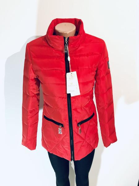 Женские куртки осень - синего, персикового и красного цвета