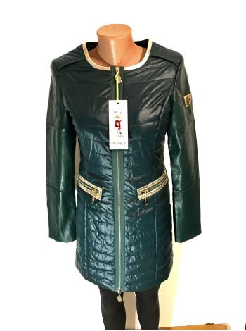 Куртка женская осень - весна Vo tarun на демисезон - зеленого цвета