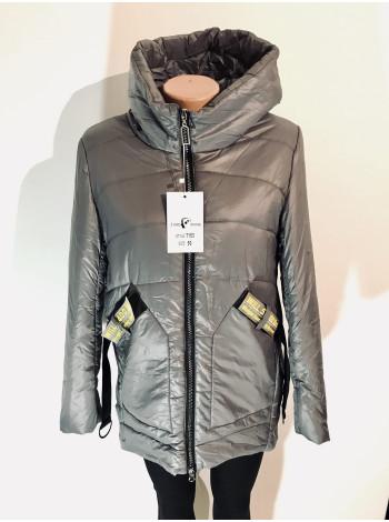 Куртки жіночі осінь - весна сіра, бежева, чорного кольору
