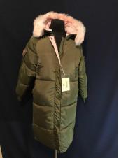 Купити пальто оверсайз жіноче зимове, колір хакі