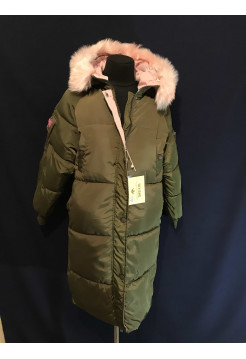 Купити пальто оверсайз жіночі зимові колір хакі ⭐Пальто оптом Україна