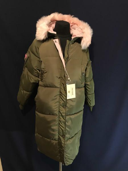 Купити пальто оверсайз жіночі зимові колір хакі ⭐Пальто оптом Україна ... c612c1b150124