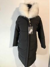 Пальто жіноче з білим хутром
