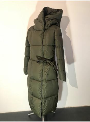 Жіноче пальто зимове Qihongyun кольору хакі