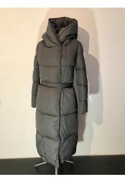 Пальто женское зимние Qihongyun серого цвета