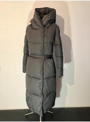 Пальто жіноче зимове Qihongyun сірого кольору