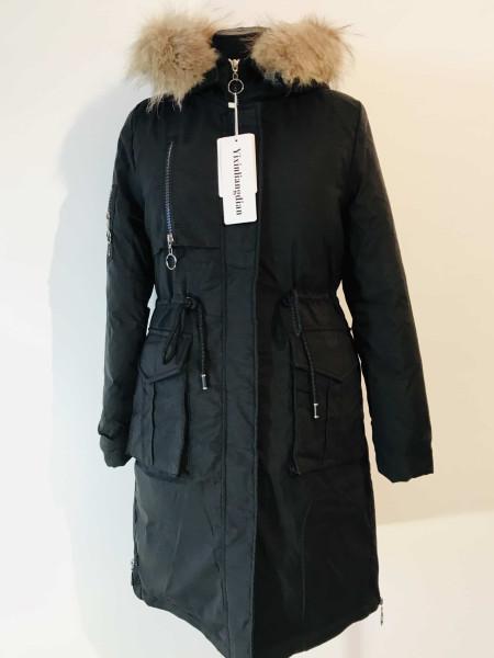 Купить женскую зимнюю парку с натуральным мехом