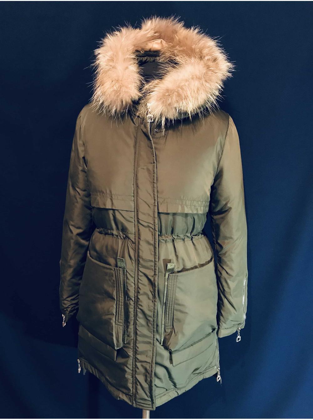 Купити зимову парку жіночу з натуральним хутром  f492f53f30f05