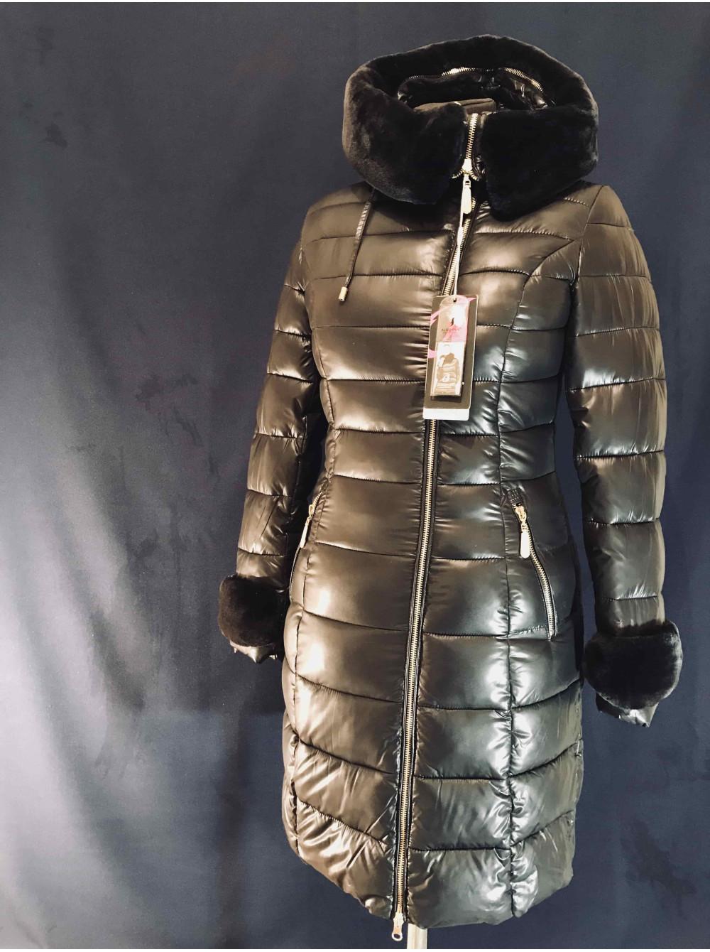 Теплий зимовий пуховик на холлофайбері Аліжес. Купити пуховики в ... 32196ec8214fc