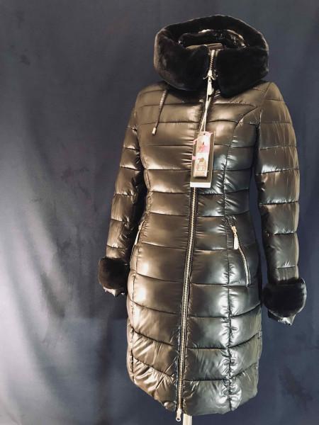 Зимовий жіночий пуховик AILIGESS - чорний