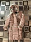 Жіночий зимовий пуховик AILIGESS на холлофайбері — бежевий фото №3