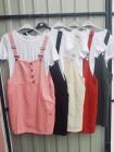 Стильный сарафан двойка с футболкой в разных цветах фото №3