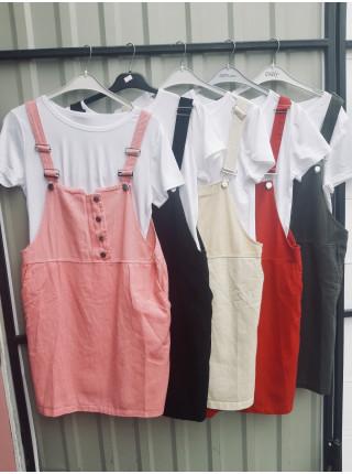 Сарафан двойка с футболкой в разных цветах