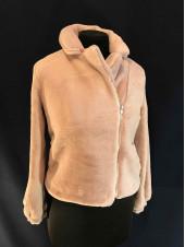 Шубка мутон Fashion brand розовая