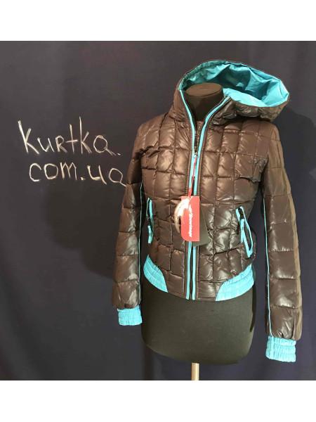 Пуховик Snowimage на дівчину - колір бірюза