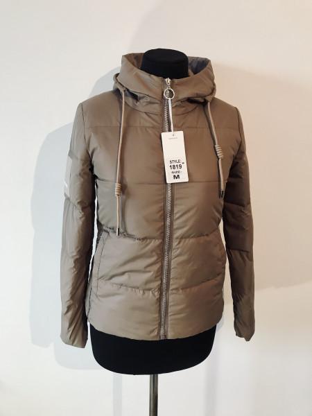 Куртка весна женская Fashion 1819 мокко