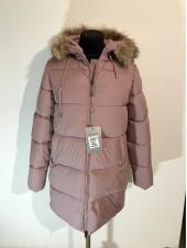 Женские куртки зима - цвет пудры