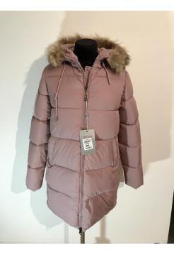 Жіночі куртки зима - колір пудри