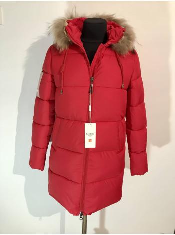 Куртка зимова жіноча Fashion Women червоного кольору