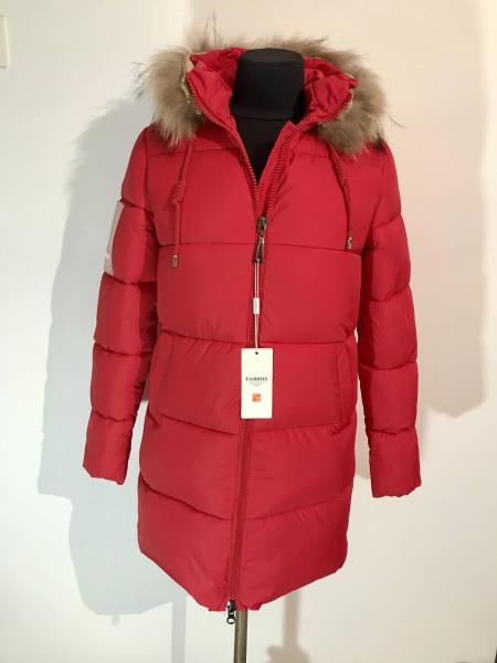Куртка зимняя женская fashion women красного цвета