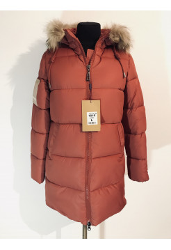 Зимові куртки жіночі 9980 колір теракот