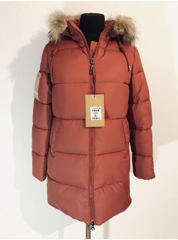 Зимові куртки жіночі - колір теракот