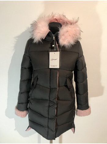 Зимова жіноча куртка QianYu чорна