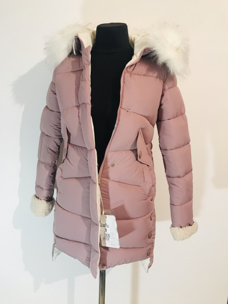Зимова куртка qianyu 1930 рожева